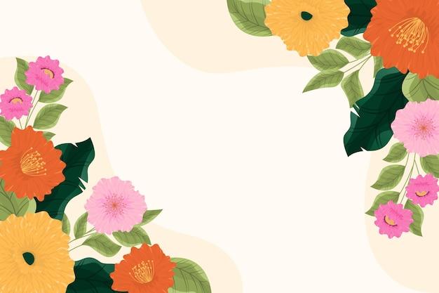 Fond élégant avec des fleurs fleuries