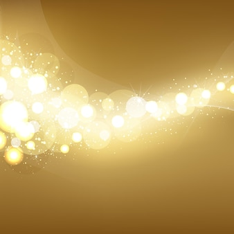 Fond élégant de lumières de fête dorées,