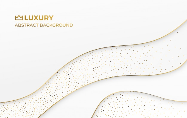 Fond élégant de luxe abstrait or blanc