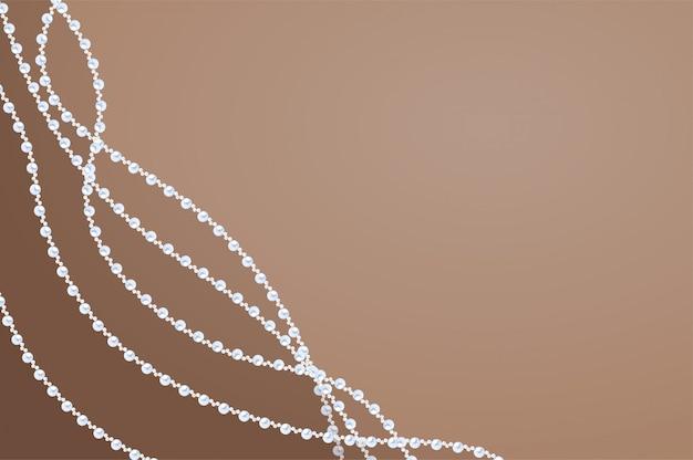 Fond élégant de perles de sable