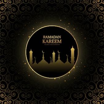 Fond élégant pour carte de ramadan kareem