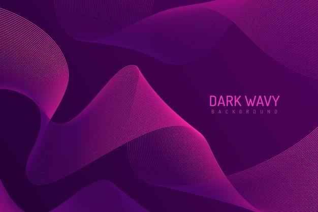 Fond élégant sinueux dans des tons violets