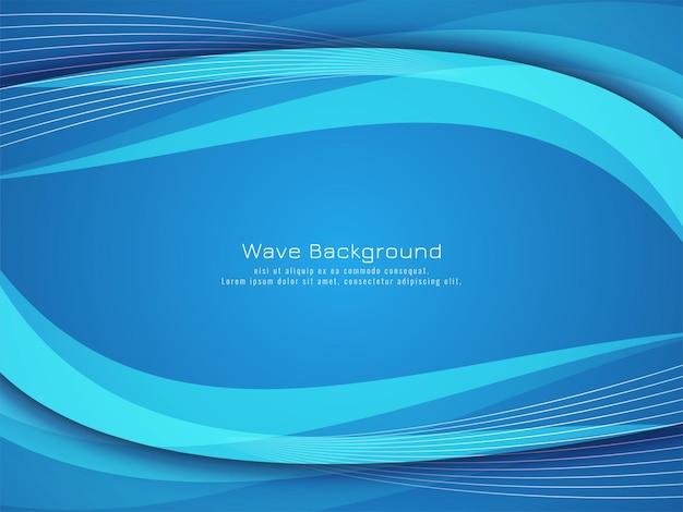 Fond élégant de vague bleue moderne élégante
