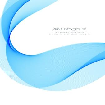 Fond élégant vague bleue