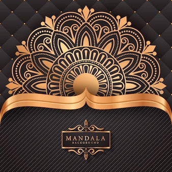 Fond d'élément ethnique décoratif mandala de luxe