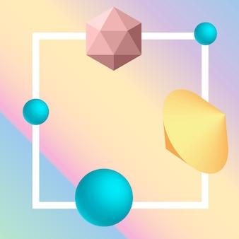 Fond d'élément géométrique 3d