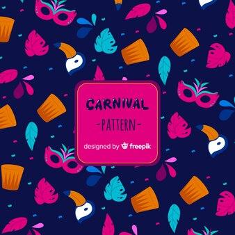 Fond d'éléments de carnaval brésilien