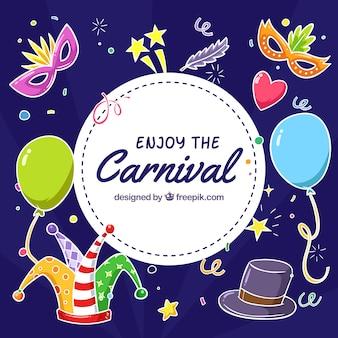 Fond d'éléments de carnaval