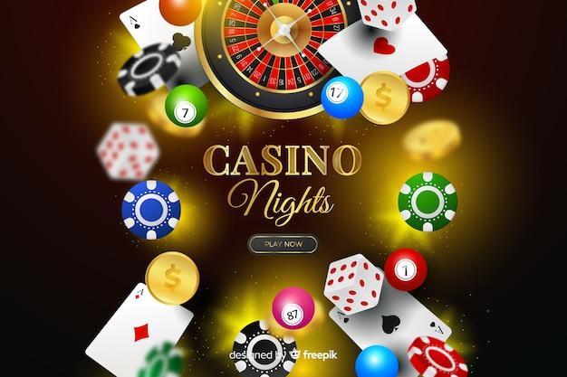 Fond d'éléments de casino réalistes