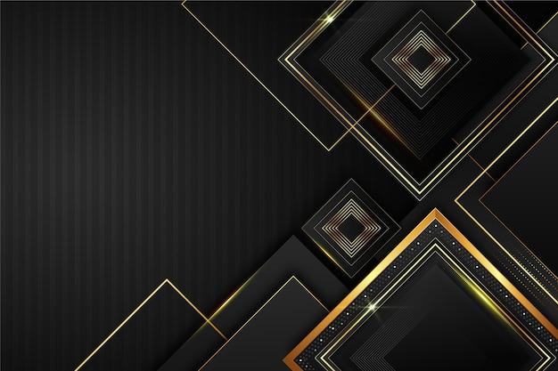 Fond d'éléments de design élégant et doré