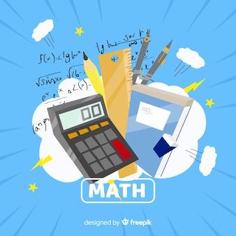 Fond d'éléments de dessin animé math