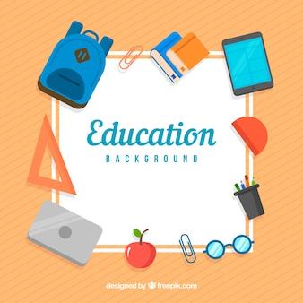 Fond d'éléments de l'éducation