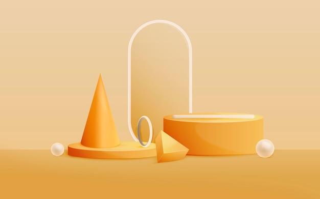 Fond d'éléments géométriques abstraits 3d