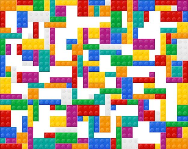 Fond d'éléments illustration vectorielle de constructeur en plastique vue de dessus