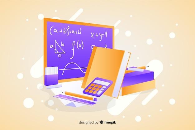 Fond d'éléments mathématiques dessin animé