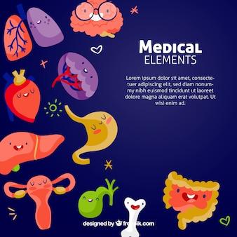 Fond d'éléments de médecine