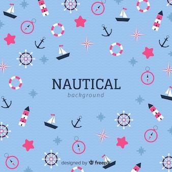 Fond d'éléments nautiques