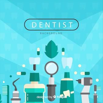 Fond d'éléments plat dentiste