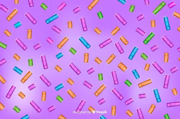 Fond d'émail savoureux donut violet