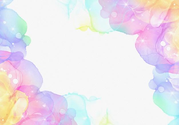 Fond d'encre alcool avec des couleurs pastel