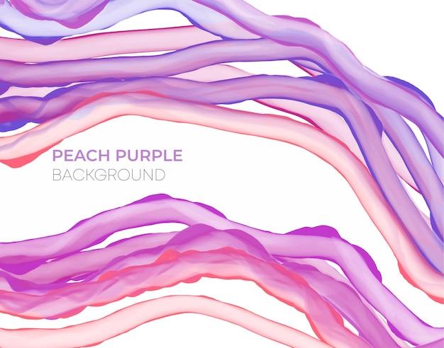 Fond d'encre d'alcool violet pêche