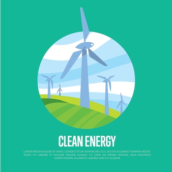 Fond d'énergie propre