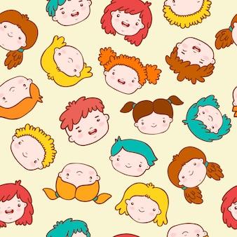 Fond d'enfants doodle