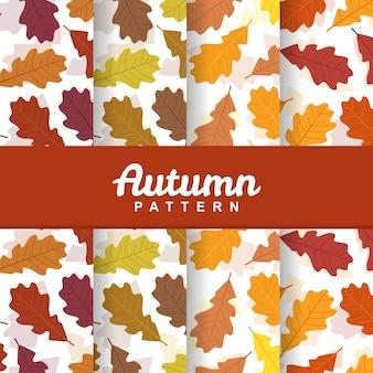 Un fond d'ensemble d'automne chute feuilles modèle sans couture