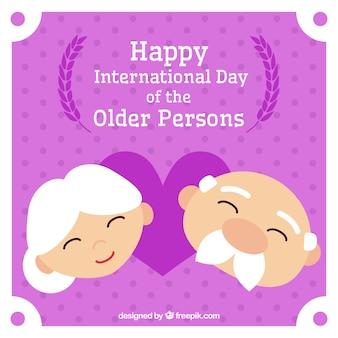 Fond enthousiaste de la journée internationale des personnes âgées