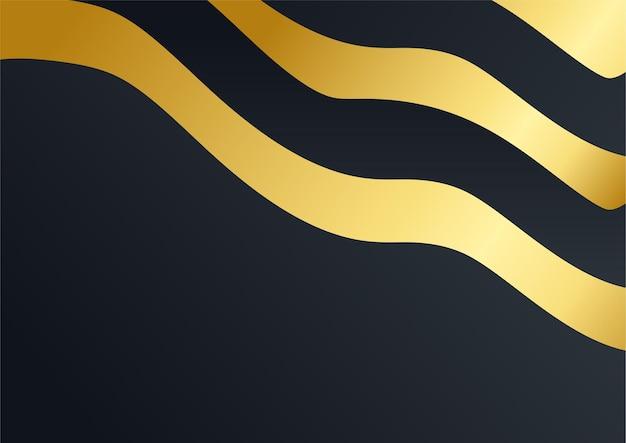 Fond d'entreprise de luxe, décoration abstraite, motif doré, dégradés de demi-teintes, illustration vectorielle 3d. modèle de couverture en or noir, formes géométriques, bannière d'entreprise minimale moderne