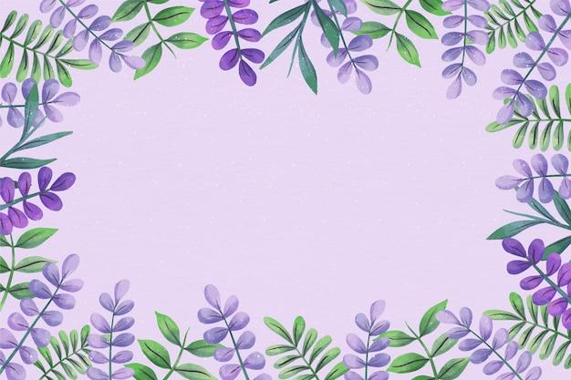 Fond d'espace copie florale