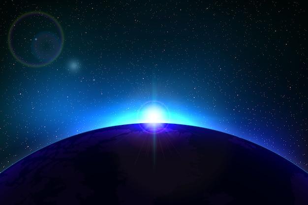 Fond d'espace avec une éclipse solaire totale pour votre conception