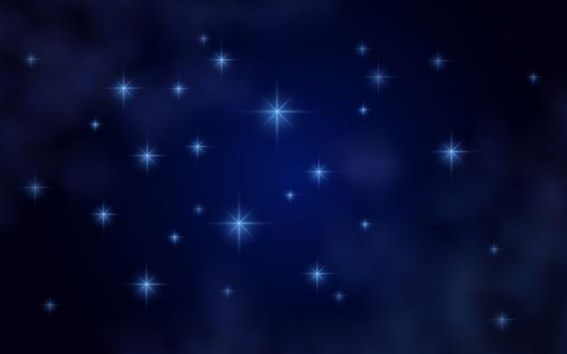 Fond de l'espace avec des étoiles et nébuleuse