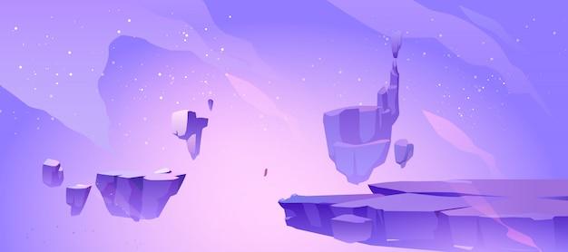 Fond d'espace avec paysage de planète extraterrestre