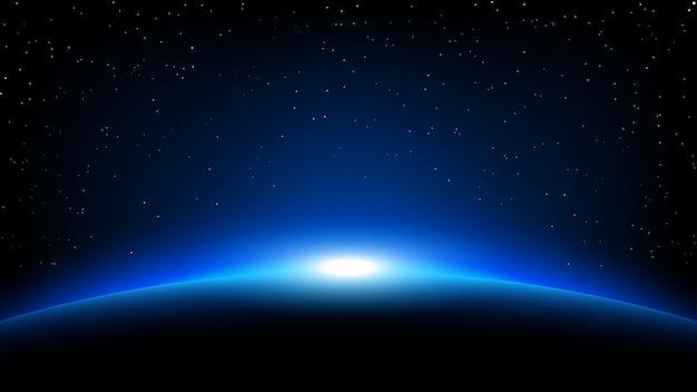 Fond de l'espace planète