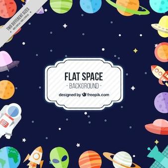 Fond espace plat drôle