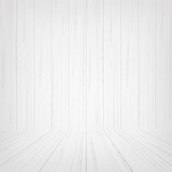 Fond d'espace de salle en bois blanc.