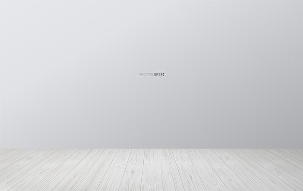 Fond d'espace salle vide avec plancher en bois