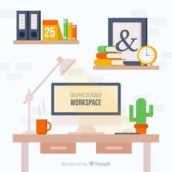 Fond d'espace de travail de concepteur graphique