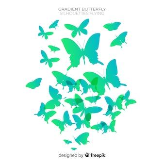 Fond d'essaim de papillons