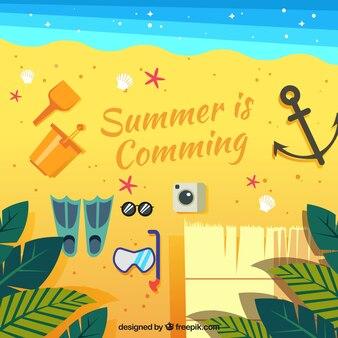Fond d'été avec une ancre