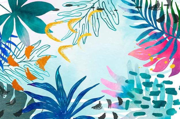 Fond d'été aquarelle