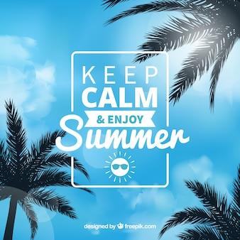 Fond d'été avec citation