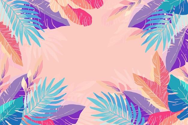 Fond d'été coloré pour zoom