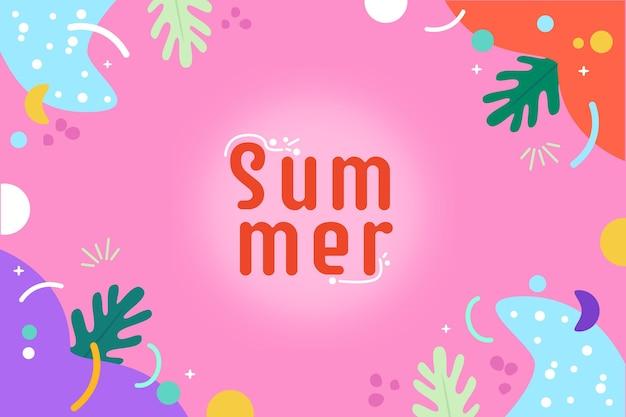 Fond D'été Coloré Vecteur gratuit