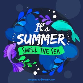Fond d'été avec des couleurs