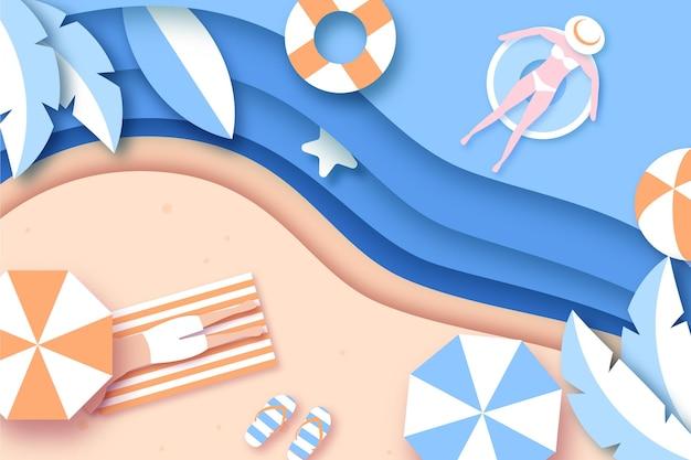 Fond d'été dans le style du papier