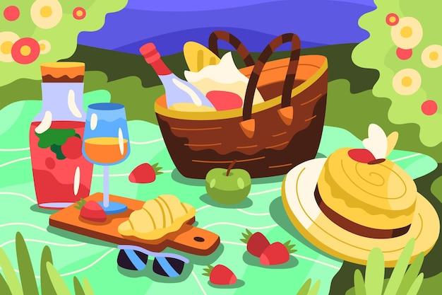 Fond d'été de dessin animé