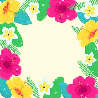 Fond d'été avec des fleurs