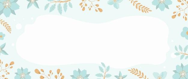 Fond d'été floral avec place pour le texte